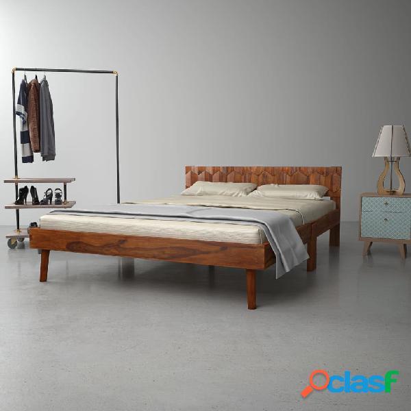 Estructura de cama de madera maciza de sheesham 140 cm