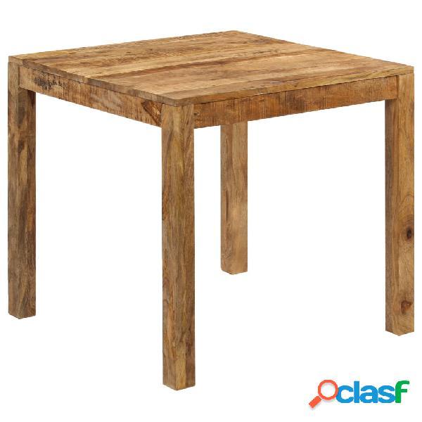 Mesa de comedor de madera maciza de mango 82x80x76 cm