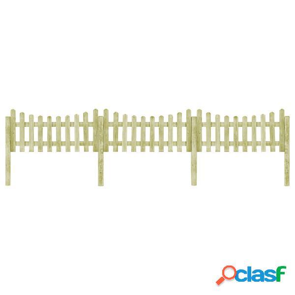 Valla de jardín 4 postes madera pino impregnada FSC 510x80