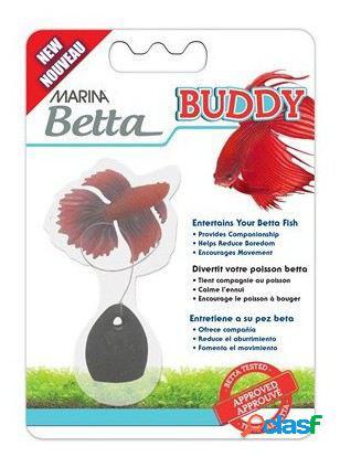Marina Marina Betta Buddy Compañero Para Bettas Rojo
