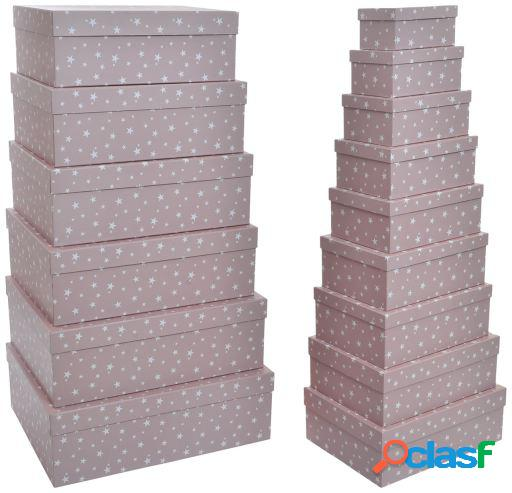 Wellindal Caja set 15 cartón 57x45x19 1800gsm estrellas