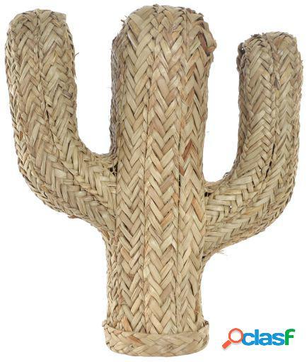 Wellindal Figura fibra 32x12x37 Cactus trenzado natural