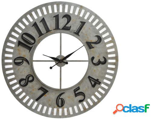 Wellindal Reloj pared madera metal 99x8 natural
