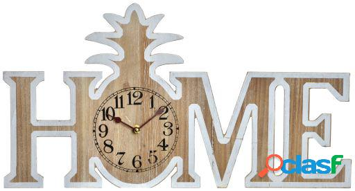 Wellindal Reloj pared mdf 51,5x4,5x28 home piña natural