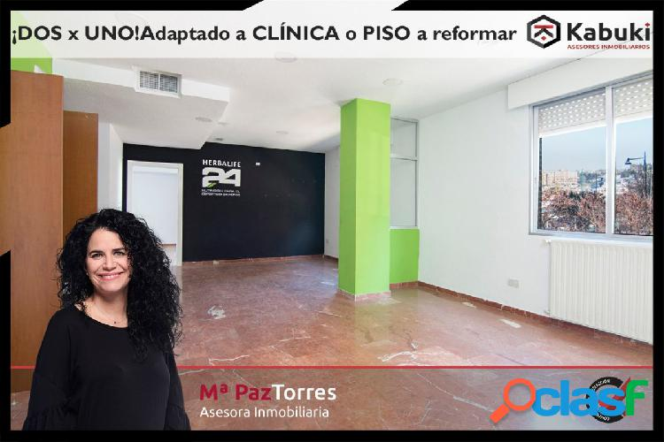 ¡Gran piso en zona Alminares Adaptado para clínica y