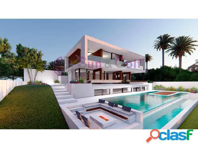 Villa con vistas al mar y al golf.