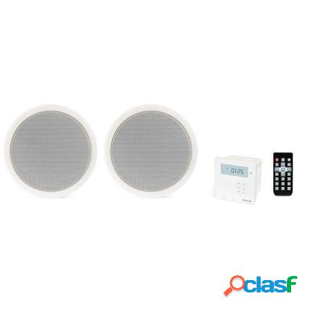 Kit amplificador pared y 2 altavoces techo fonestar ks-06 -