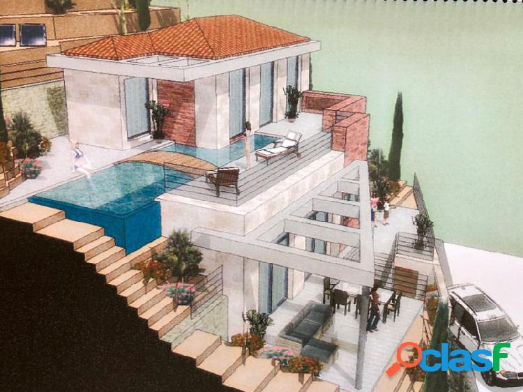 Proyecto de villa moderna con vistas al mar, cerca del