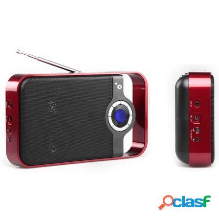 Radio portatil sunstech rpds250rd red - fm - 30 presintonias