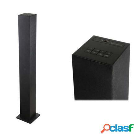 Torre de sonido sunstech stbt130 negra - 20w rms - bt4.0 -
