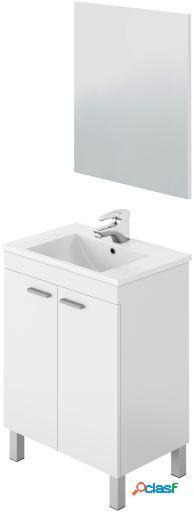Wellindal Mueble lavabo 60 2 puertas y espejo LC1-60