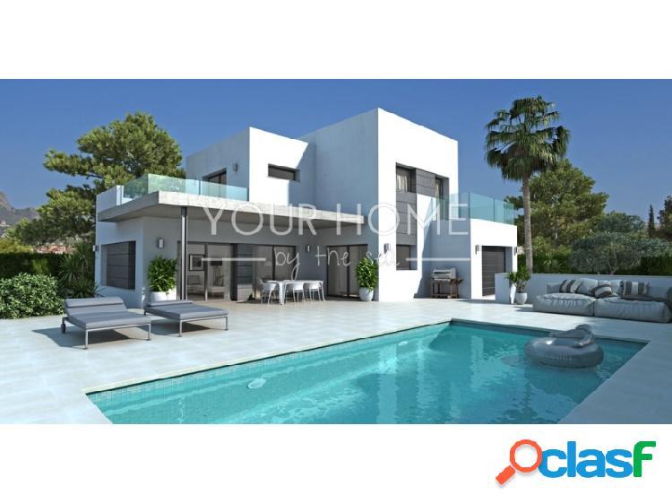 Villa de nueva construcción con vistas al mar y al Peñón