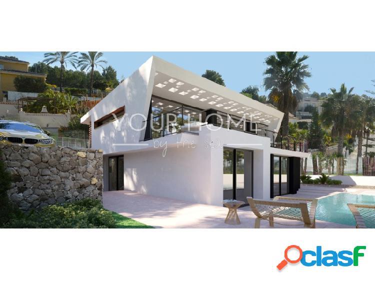 Villa de nueva construcción de estilo moderno