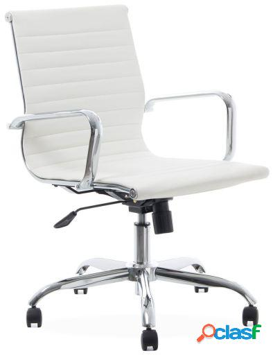 Wellindal Silla de oficina Emsir blanca Charles & Ray Eames