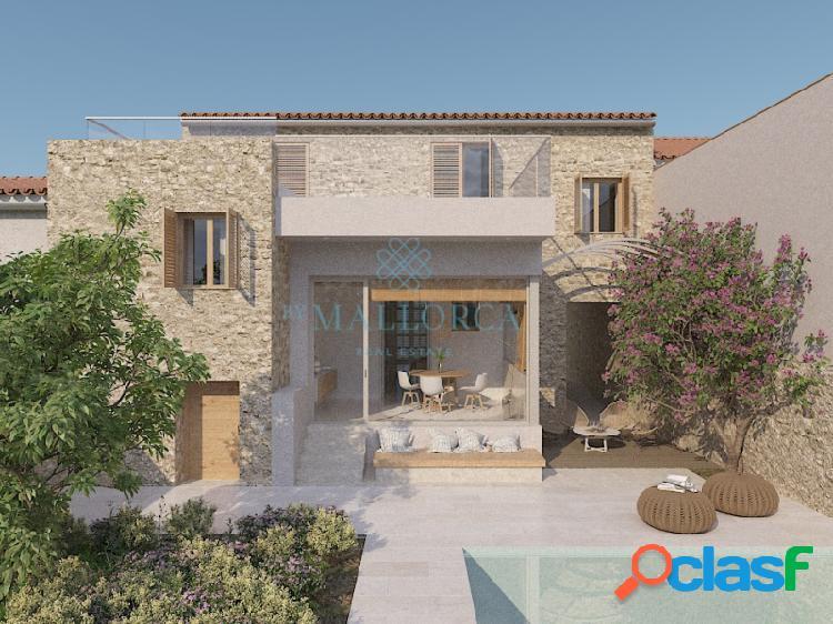 Preciosa casa de pueblo con piscina en Son Servera