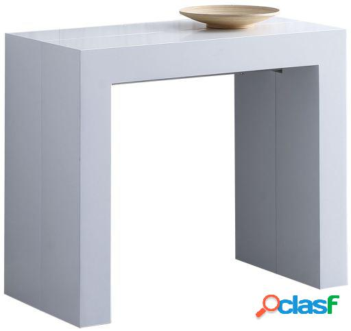 Wellindal Consola / Mesa extensible Thema blanco
