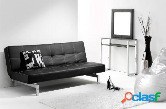 Wellindal Sofa cama clic clac modelo chic Negro