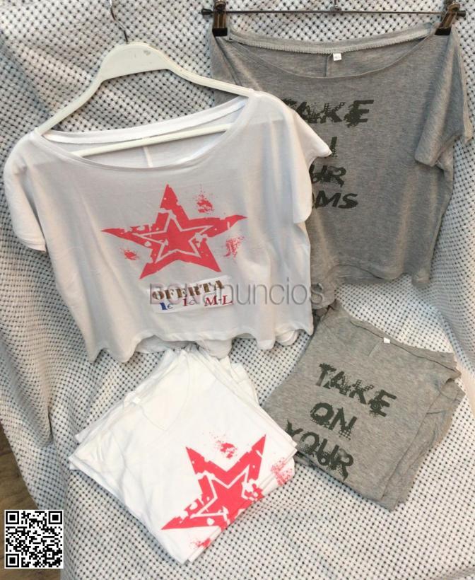 Camisetas de temporada por solo %algodon talla m/l