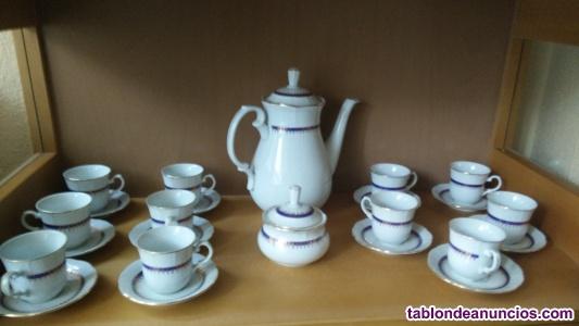 Juego de café de porcelana thun czechoskovakia