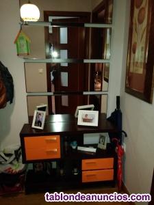 Mueble de entrada con espejo incluido