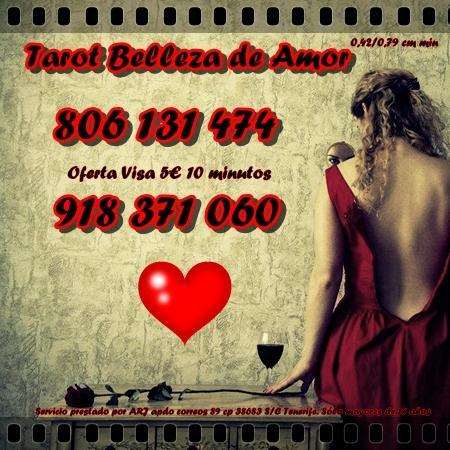 Tarot Belleza de Amor Visa oferta  min. Tarot 806