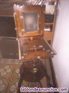 Vendo camara fotos antigua de madera