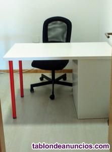 Vendo escritorio con cajonera de 3 cajones y silla de