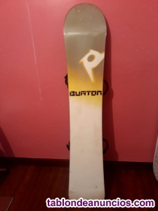 Vendo tabla snowboard con fijaciones burton