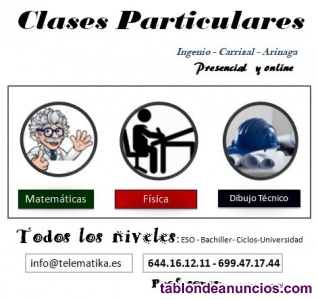 Clases particulares: matemáticas presencial y online