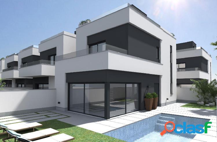 Villas modernas ubicadas en el