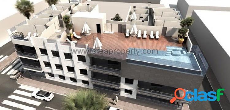 Apartamentos de nueva construcción con piscina comunitaria
