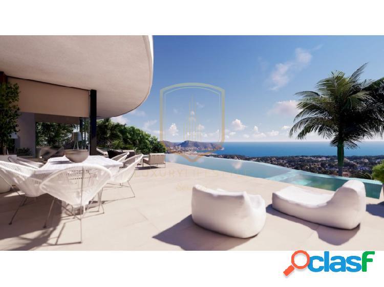 En proyecto villa de lujo con vistas panoramicas