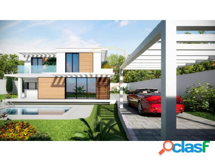 Villa de estilo moderno con vistas al mar