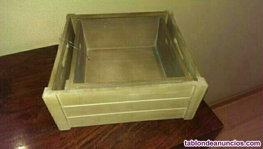Conjunto de cajas de madera