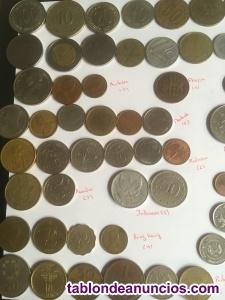 Lote de 91 monedas extranjeras