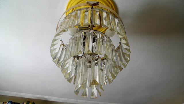 Lámpara de techo de cristal