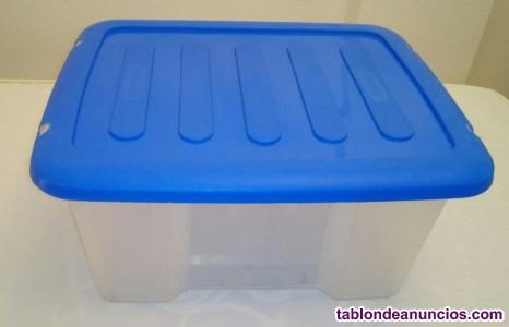 Cajas de plástico apilables con tapa de la marca curver