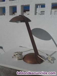 Lámpara antigua de bronce macizo
