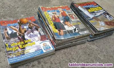 Lote de 110 revistas de baloncesto ''gigantes del basket''