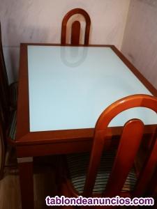 Mesa comedor extensible mas 4 sillas