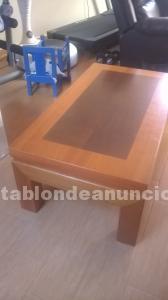 Mesa grande y pequeña de comedor y 6 sillas de comedor