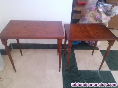 Mesas bajas en madera de buena calidad