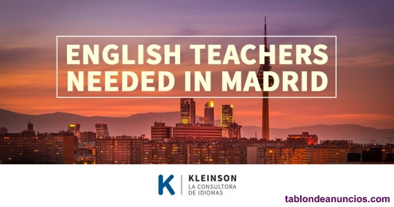 English teacher needed in malaga for company classes