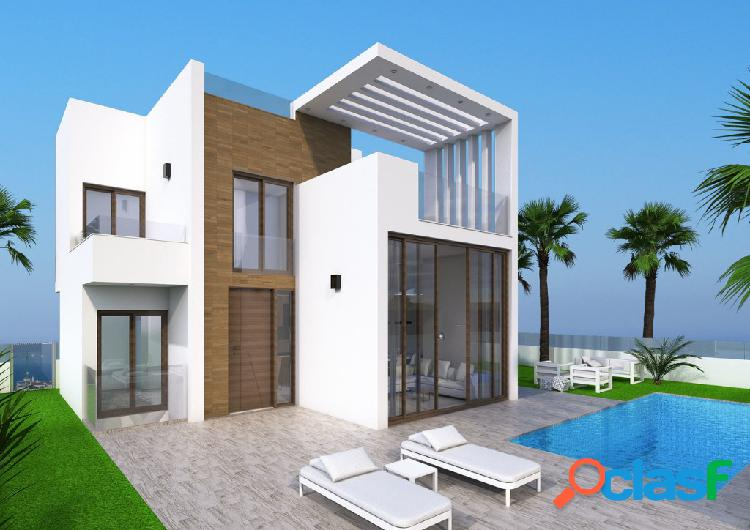 Nuevas villas con piscina en L