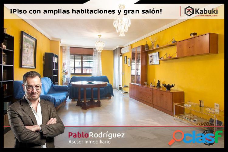 Buscas un piso con amplias habitaciones y gran salón!!!