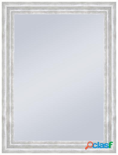 Wellindal Espejo decorativo con forma 3 alturas en blanco