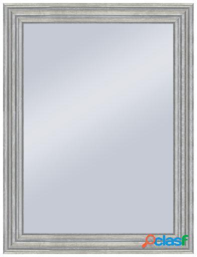 Wellindal Espejo decorativo con forma 3 alturas en plata