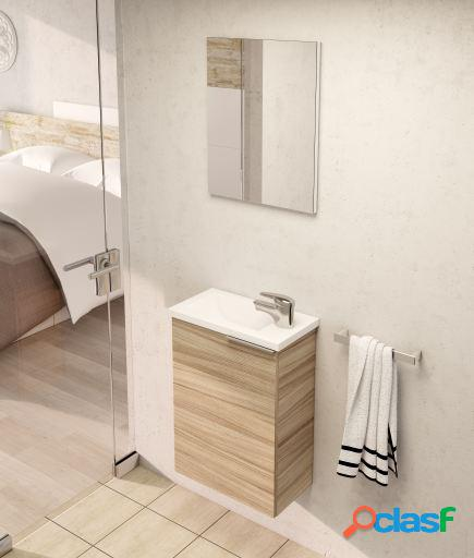 Wellindal Muble de Baño Compact 40cm 1 puerta con espejo y