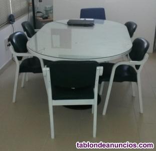 Mesa de reuniones y 6 sillas