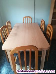Se vende mesa comedor con sillas